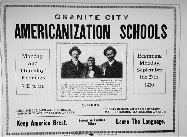 Σχολές Αμερικανοποίησης, ΗΠΑ, Μεσοπόλεμος