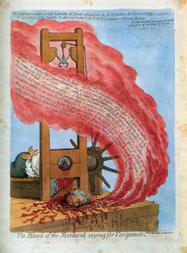 James Gillray: The blood of the murdered crying for vengeance. The execution of Louis XVI. Τέλος 18ου αι.