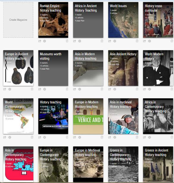 Συλλογές συνδέσμων για την Ιστορία στο Flipboard
