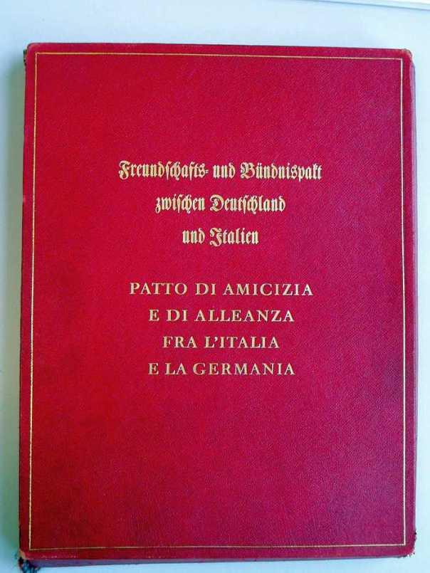 Ιταλογερμανικό Σύμφωνο Φιλίας και Συμμαχίας, 22 Μαΐου 1939